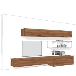 Linear Wall System Composition 008