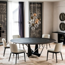 Cattelan Italia Skorpio Round Ker-Wood Table