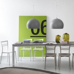 Connubia Calligaris Eminence Wood With Metal Legs Table