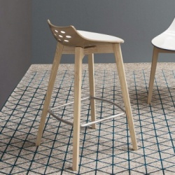 Calligaris Jam Bar Stool Wood Legs
