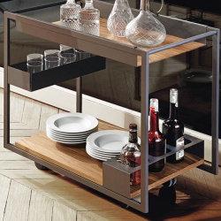 Cattelan Italia Mojito Wood Trolley