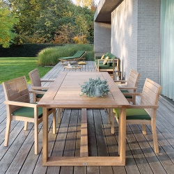 Manutti Siena Square Teak Outdoor Dining Chair
