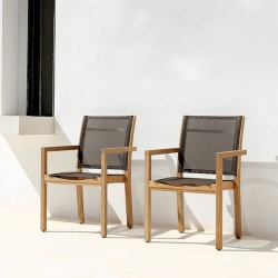 Manutti Siena Teak Outdoor Dining Chair