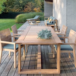 Manutti Siena Teak Outdoor Dining Table